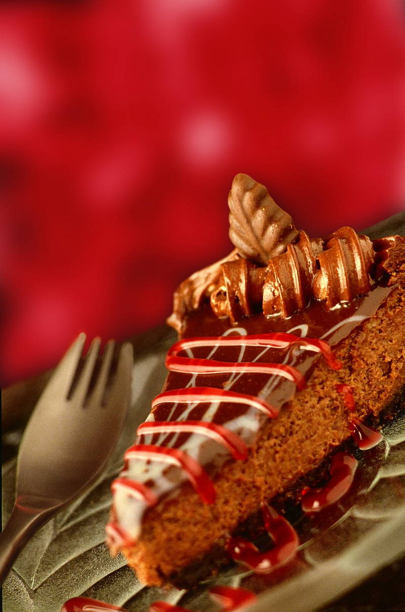 Delicious cheesecake and caramel treat. Stock Photography Free for Commercial Use.