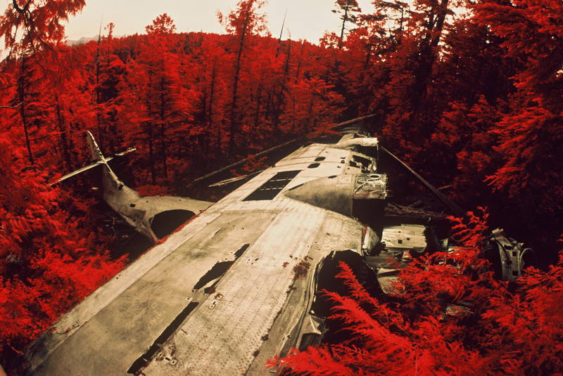 Bomber crash in Tofino, British Columbia. Stock Photography Free for Commercial Use